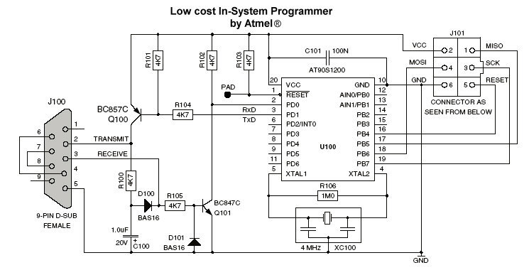 Avr isp on motor schematics