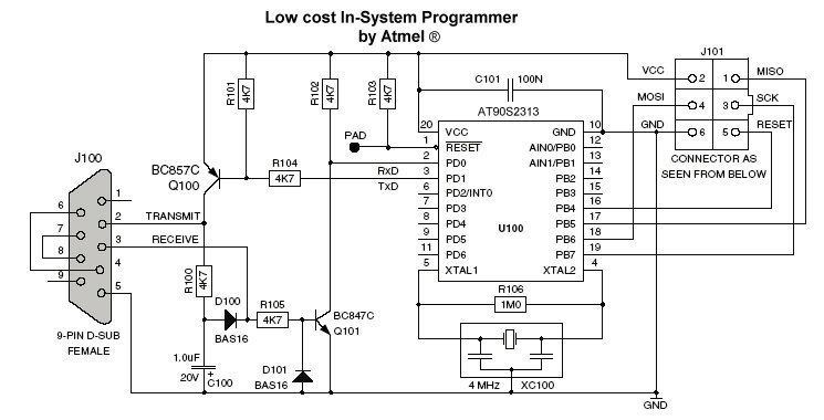 Avr Isp Programmer In System Programmer